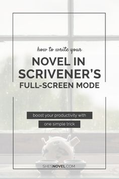 New to Scrivener? Learn how to write your novel in Scrivener's full screen mode so that you can avoid distractions and boost your productivity! ShesNovel.com Start Writing, Writing Advice, Writing Ideas, Writing Websites, Fiction Writing, Writing Resources, Creative Writing, Writing Prompts, Writing Inspiration
