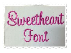 $2.95Sweetheart Machine Embroidery Font Alphabet