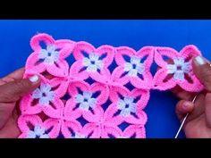 Motivo o pastilla a crochet fácil de tejer para blusas, colchas, cojines, chalecos en video tutorial - Смотреть видео бесплатно онлайн Crochet Squares, Crochet Motif, Crochet Yarn, Easy Crochet, Crochet Stitches, Crochet Patterns, Crochet Daisy, Crochet Flowers, Hand Embroidery Videos