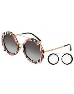 f744d97436b29 Sunglasses DOLCE   GABBANA D G DG2198 1298 8G 63 Pink Gold - Black Print  Rose (eBay Link)