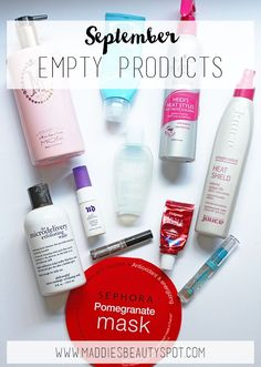 September Empty Products | Maddie's Beauty Spot