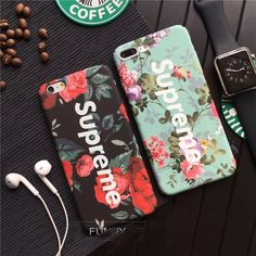 Hot Fashion tide brand Supreme case cover for iphone 7 7plus 6s 6plus Luminous Luxury Matte Hard shell Phone cases couqe fundas #IphoneCases #IphoneCaseCovers