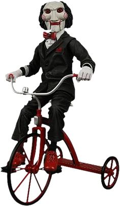 """Saw Puppet on Tricycle - 12"""" - Jigsaw - Scary"""