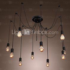 Chandelier Vintage Design Bulbs Included Living 10 Lights 342378 2016 – - All For Decoration Rustic Chandelier, Vintage Chandelier, Lustre Design, Study Design, Led, Vintage Designs, Light Bulb, Ceiling Lights, Dining