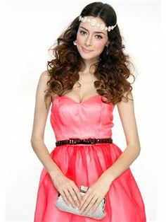 Fashion Concise Strapless Zipper-Up Short Homecoming Dress  #strapless #short #homecoming