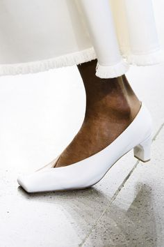 the shoe itself is not too bad, but white shoes never look good, even at weddings