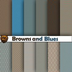 A personal favorite from my Etsy shop https://www.etsy.com/listing/517429341/brown-and-blue-digital-paper-scrapbook