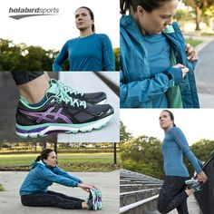 ASICS #OutfitOfTheDay with fitness enthusiast Adriana Cesar.  Grab this Asics gear and more today at www.holabirdsports.com  #runholabird #Asics #GT20003 #RunningTights #StormShelterJacket #AsicsLiteShow #LiteShow #RunningGear #Running #Run #LifestylePhotos #OOTD