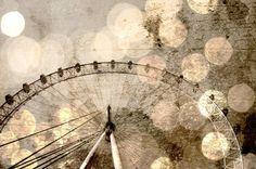 London Eye Giant Ferris Wheel Bokeh Photo  Fine Art by AnnaDelores, $30.00
