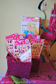 Barbie Birthday Party Goody Bag Ideas, from Serenity Now http://afeventplanning.com/do-it-yourself/diy-barbie-birthday-party-kids-party-ideas/