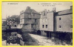 CPA Bretagne 29 Landerneau Finistère Vieille Maison SUR LE Pont DE L'Elorn   eBay