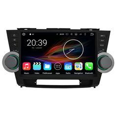 "10.1"" Android Autoradio Car Multimedia Stereo GPS Navigation Head Unit Toyota Highlander 2011 2012 2013 2014"