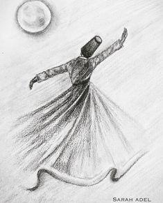 Dance Paintings, Islamic Paintings, Arabic Calligraphy Art, Turkish Art, Art Drawings Sketches Simple, Anime Sketch, Artwork, Fashion Art, Drawing Fashion