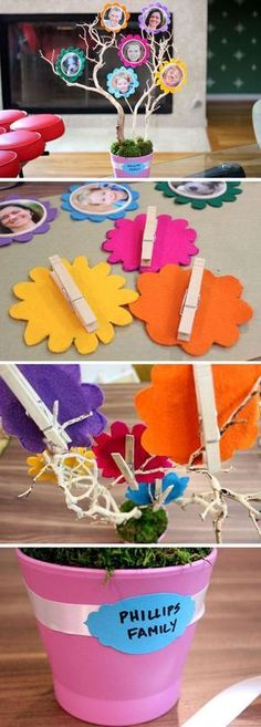 How For Making Candles In Your House - Solitary Interest Or Relatives Affair Family Tree Perfect Family Craft Too. Kids Crafts, Family Crafts, Projects For Kids, Diy For Kids, Diy And Crafts, Craft Projects, Arts And Crafts, Paper Crafts, Project Ideas