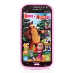 Nueva Pantalla Táctil Simulador Educativo Bebé de Juguete Teléfono Teléfono de La Música de Niños Juguetes Electrónicos de Aprendizaje Rusia Idioma Regalo de Los Cabritos