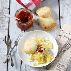A sweet, smokey, slightly spicy tomato jam, perfect for Sunday brunch!