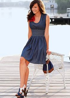 I can think of about 100 ways to wear this cute dress.