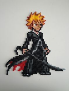 Ichigo Bankai Bleach Hama bead sprite by rinoaff10 on deviantart