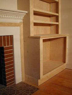 Before & After: Built ins. Can make a room look much larger than ...
