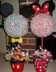 Mickey  & Minnie Mouse inspired Lollipop Tree (custom made) Party Candy Buffet,Station,Centerpiece or gift