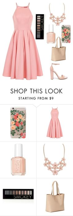 """""""Pink"""" by kiaracmccarthy on Polyvore featuring Rifle Paper Co, Chi Chi, Essie, Forever 21, Old Navy and Steve Madden"""