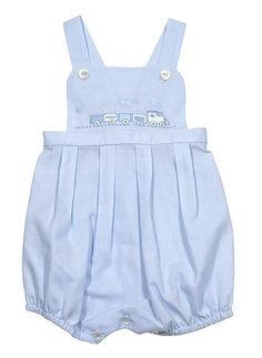 Sarah Louise Baby Boys Blue Embroidered Train Overall with Over-Shirt Heirloom Sewing and Smocking Vintage Baby Boys, Vintage Baby Clothes, Smocked Baby Clothes, Baby & Toddler Clothing, Toddler Girl, Little Boy Outfits, Baby Boy Outfits, Outfits Niños, Kids Outfits