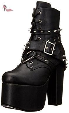 Pleaser  Torment 700, Bottes femme - Noir - Black (Blk Vegan Leather),  41EU-8 UK - Chaussures demonia (*Partner-Link)