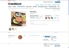 Crate and Barrel | Product detail page design