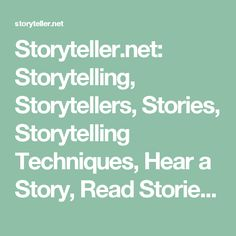 The original site for the support and learning in the Oral Storytelling Tradition. Since Find Stories. Discover a Storyteller! Storytelling Techniques, Worksheet Generator, Literacy And Numeracy, Digital Storytelling, Educational Websites, To Tell, Audio, Learning, Books