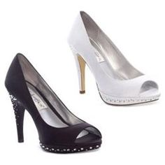 Rhinestone heel wedding shoes
