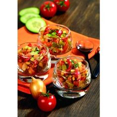 petites verrines de salade