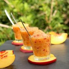 Peach and Champagne Sorbet by stacey