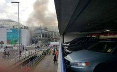 ब्रसेल्स एयरपोर्ट में 2 धमाके, 11 लोगों की मौत, हवाई अड्डे के ऊपर धुएं का गुबार