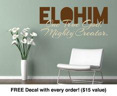 Religious Decals. ELOHIM - CODE 053