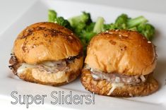 Roast Beef Sliders are the perfect party food to feed a crowd. Baked in the most flavorful sauce, it's hard to only eat one. Roast Beef Sliders, Roast Beef Sandwiches, Wrap Sandwiches, Super Sliders, Appetizer Recipes, Appetizers, Party Recipes, Beef Recipes, Cooking Recipes