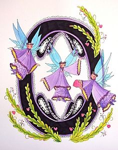 FLOWERS AND LETTERS FOR DECOUPAGE Alphabet Letters Design, Alphabet And Numbers, Letter Designs, Free Machine Embroidery Designs, Illuminated Letters, Lettering Design, Fairy Tales, Initials, Scrapbook