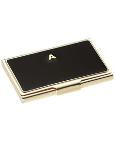 A cute idea for coworker gifts, kate spade new york monogram card holders make business personal. With fun colors and gold details, it's a pretty way to carry credentials.