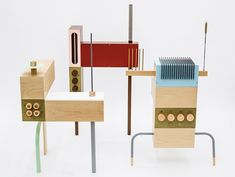 Odd Harmonics by François Chambard is a collection of 12 sculptural theramins (those unusual electronic musical instruments, played with no direct physical contact, by moving hands through the air).
