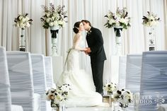 A A hidden gem among boutique hotels in downtown Vancouver, the Westin Grand Hotel provided the perfect stylish setting for this inspirational photo shoot dreamed up by Gina and Chris Chong of Butter Studios. Wedding Catering, Wedding Venues, Wedding Photos, Vancouver Wedding Photographer, Event Photographer, Lace Wedding, Wedding Dresses, Ceremony Decorations, Real Weddings