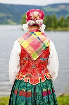 National costume (Bunad) from Hedmark County in Norway.