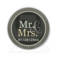 The perfect sticker for your wedding favors at your reception, personalized with your wedding date!