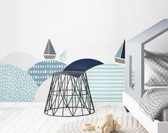 behind-the-bed wallsticker southern sea