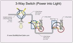 2 way switch with lights wiring diagram electrical pinterest rh pinterest com 3-Way Switch Wiring Schematic 3-Way Switch Wiring Diagram Variations