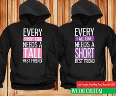 Lindo Mejor Amigo Con Capucha-Corto Y De Alto Juego Negro Con Capucha