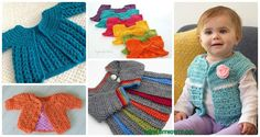 Crochet Kids Sweater Coat Free Patterns: Crochet Girls & Boys Sweaters, Cardigans, shrugs, and more  via @diyhowto