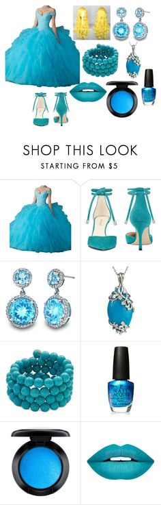 """Cinderella Dress"" by mizuki-gudgen ❤ liked on Polyvore featuring Nine West, Kenneth Jay Lane, OPI, MAC Cosmetics and Forever 21"