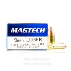 Magtech 9mm Ammo - 1000 Rounds of 124 Grain FMC Ammunition  #Magtech #MagtechAmmo #9mmammo #FMC