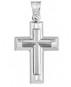 ΚΤΧ703 -Χρυσός βαπτιστικός σταυρός 14Κ Symbols, Icons, Glyphs