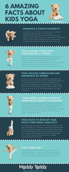 Why she your little cub practice yoga? Check out all the amazing benefits of kids yoga. For more information go to http://www.meddyteddy.com