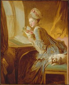 Jean Honoré Fragonard (French, 1732–1806). The Love Letter, early 1770s. The Metropolitan Museum of Art, New York. The Jules Bache Collection, 1949 (49.7.49) #dogs